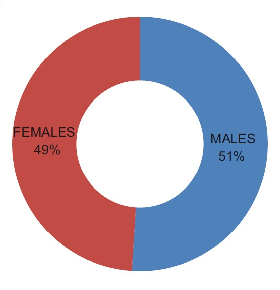 Figure 1: Distribution of sexes
